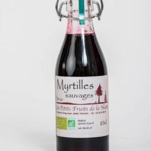 sirop aux myrtilles